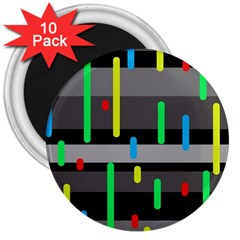 Colorful pattern 3  Magnets (10 pack)