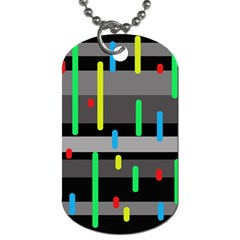 Colorful pattern Dog Tag (One Side)