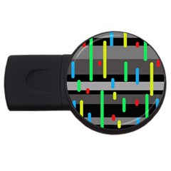 Colorful pattern USB Flash Drive Round (4 GB)