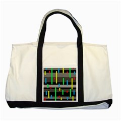 Colorful pattern Two Tone Tote Bag