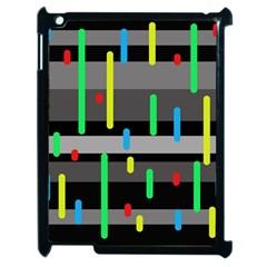 Colorful pattern Apple iPad 2 Case (Black)