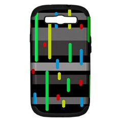 Colorful pattern Samsung Galaxy S III Hardshell Case (PC+Silicone)