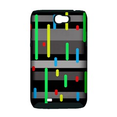 Colorful pattern Samsung Galaxy Note 2 Hardshell Case (PC+Silicone)