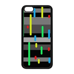 Colorful pattern Apple iPhone 5C Seamless Case (Black)