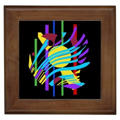 Colorful abstract art Framed Tiles