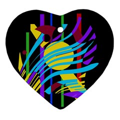 Colorful abstract art Ornament (Heart)
