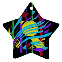 Colorful abstract art Ornament (Star)