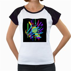 Colorful abstract art Women s Cap Sleeve T