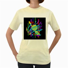 Colorful abstract art Women s Yellow T-Shirt