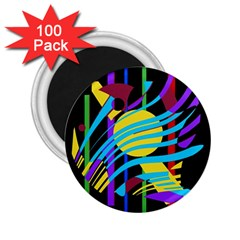 Colorful abstract art 2.25  Magnets (100 pack)