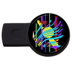 Colorful abstract art USB Flash Drive Round (1 GB)