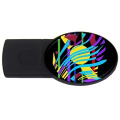 Colorful abstract art USB Flash Drive Oval (2 GB)