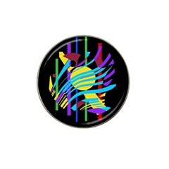 Colorful abstract art Hat Clip Ball Marker