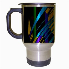 Colorful abstract art Travel Mug (Silver Gray)