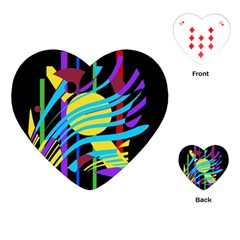 Colorful abstract art Playing Cards (Heart)