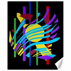 Colorful abstract art Canvas 16  x 20