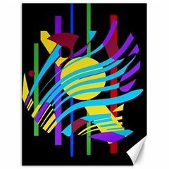 Colorful abstract art Canvas 18  x 24