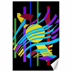 Colorful abstract art Canvas 24  x 36