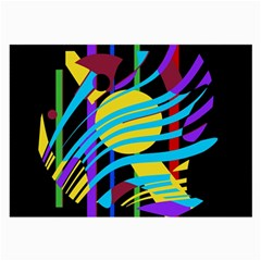 Colorful abstract art Large Glasses Cloth