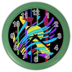 Colorful abstract art Color Wall Clocks