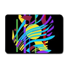 Colorful abstract art Small Doormat