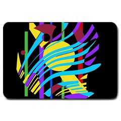 Colorful abstract art Large Doormat