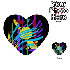 Colorful abstract art Multi-purpose Cards (Heart)