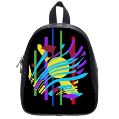 Colorful abstract art School Bags (Small)