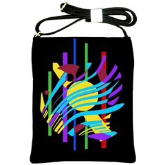 Colorful abstract art Shoulder Sling Bags