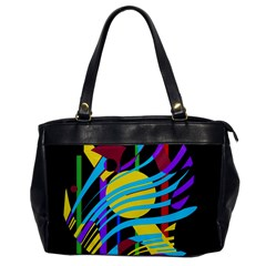 Colorful abstract art Office Handbags