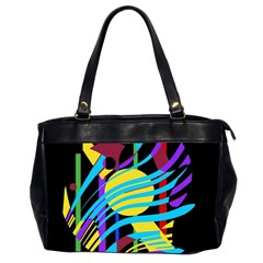Colorful abstract art Office Handbags (2 Sides)