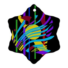 Colorful abstract art Snowflake Ornament (2-Side)