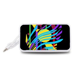 Colorful abstract art Portable Speaker (White)