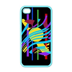 Colorful abstract art Apple iPhone 4 Case (Color)