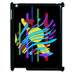 Colorful abstract art Apple iPad 2 Case (Black)