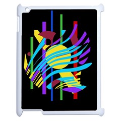 Colorful abstract art Apple iPad 2 Case (White)