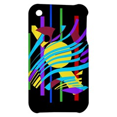 Colorful abstract art Apple iPhone 3G/3GS Hardshell Case
