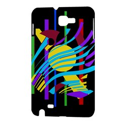 Colorful abstract art Samsung Galaxy Note 1 Hardshell Case