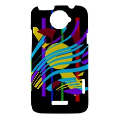 Colorful abstract art HTC One X Hardshell Case