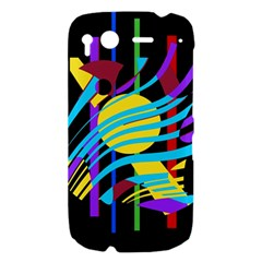 Colorful abstract art HTC Desire S Hardshell Case