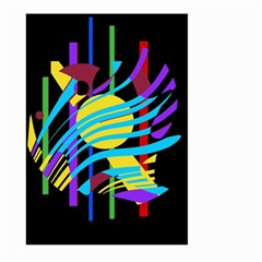 Colorful abstract art Large Garden Flag (Two Sides)