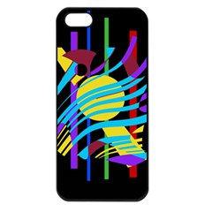 Colorful abstract art Apple iPhone 5 Seamless Case (Black)
