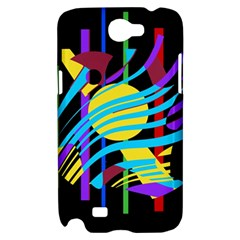 Colorful abstract art Samsung Galaxy Note 2 Hardshell Case