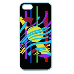 Colorful abstract art Apple Seamless iPhone 5 Case (Color)