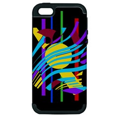 Colorful abstract art Apple iPhone 5 Hardshell Case (PC+Silicone)