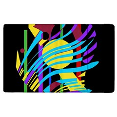 Colorful abstract art Apple iPad 2 Flip Case