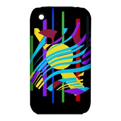 Colorful abstract art Apple iPhone 3G/3GS Hardshell Case (PC+Silicone)