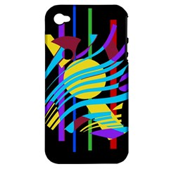 Colorful abstract art Apple iPhone 4/4S Hardshell Case (PC+Silicone)