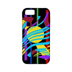 Colorful abstract art Apple iPhone 5 Classic Hardshell Case (PC+Silicone)