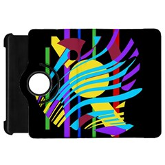 Colorful abstract art Kindle Fire HD Flip 360 Case